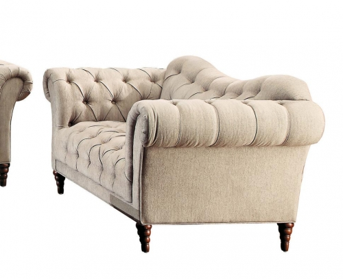 St. Claire Love Seat - Polyester - Brown Tone