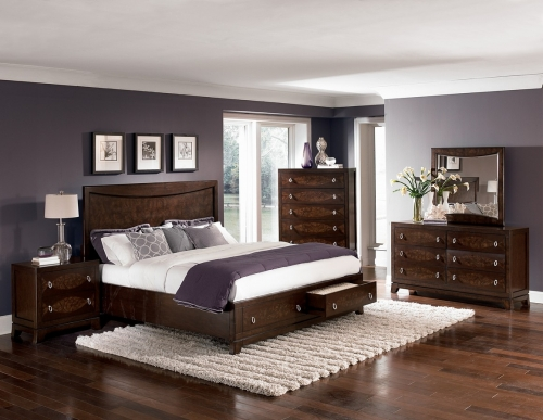 BPL BED SET Lakeside Platform Storage Bedroom Set 1304