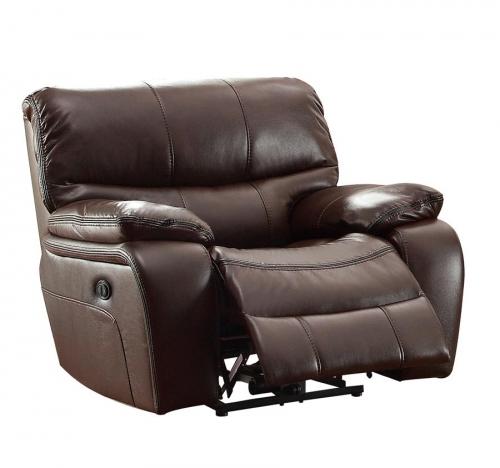 Homelegance Pecos Power Reclining Chair - Leather Gel Match - Dark Brown