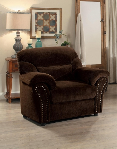 Valentina Chair - Dark Brown Fabric