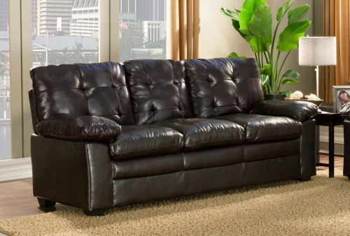 Charley Sofa - Brown - Bi-Cast Vinyl