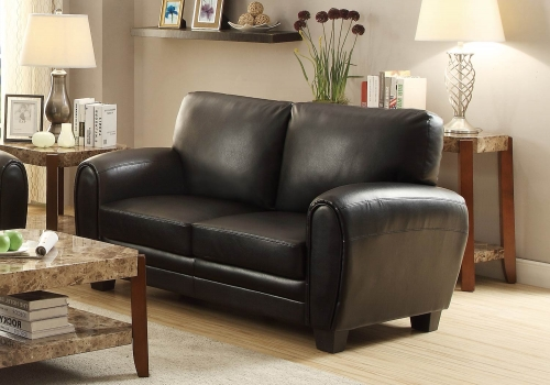 Rubin Love Seat - Black