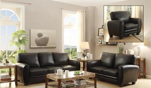 Rubin Sofa Set - Black