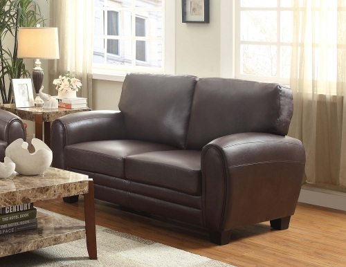 Rubin Love Seat - Dark Brown