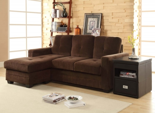 Phelps Sectional Sofa - Coffee - Microfiber