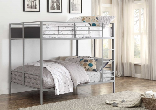 Dex Full/Full Bunk Bed - Grey