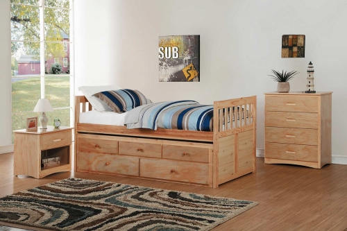 Bartly Bedroom Set - Natural Pine