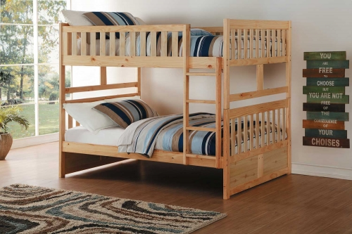 Bartly Full over Full Bunk Bed - Natural Pine