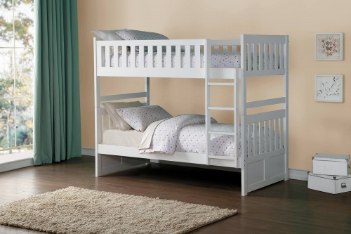 Galen Twin over Twin Bunk Bed - White
