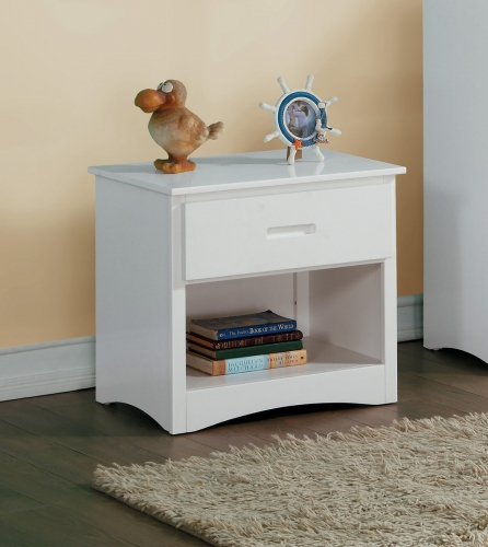 Homelegance Galen Night Stand - White