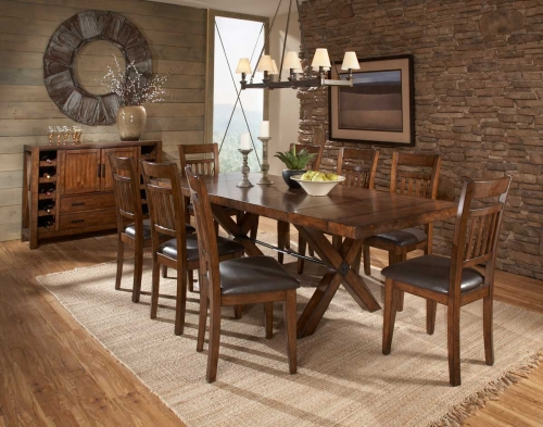 D Vasquez Dining Set Warm Oak