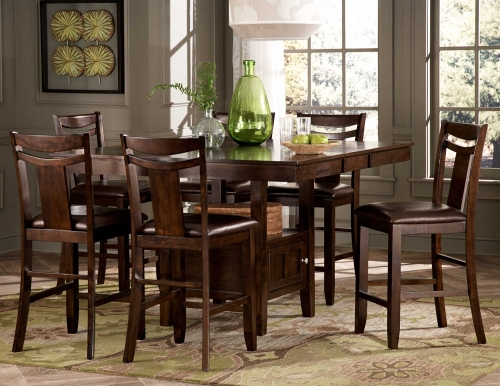 Broome Counter Height Dining Set - Dark Brown
