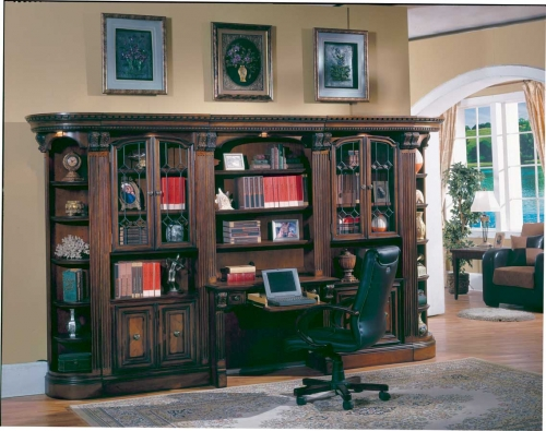 Huntington Library Wall with Desk and Hutch