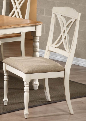 Buttefly Back Dining Chair with Upholstered seat - Biscotti