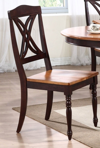Butterfly Back Dining Chair - Whiskey/Mocha