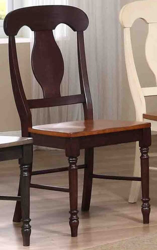 Napoleon Back Dining Chair - Whiskey/Mocha