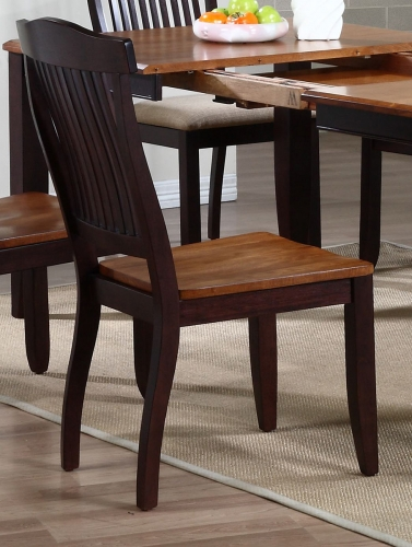 Open Slat Back Dining Chair - Whiskey/Mocha