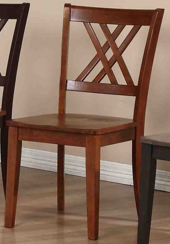 Double X-Back Dining Chair - Cinnamon/Cinnamon
