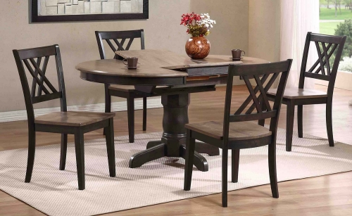 Dining Set - Grey Stone/Black Stone