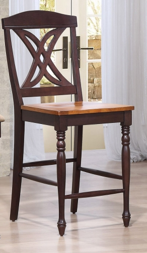 Butterfly Back 24-inch Counter Stool - Whiskey/Mocha