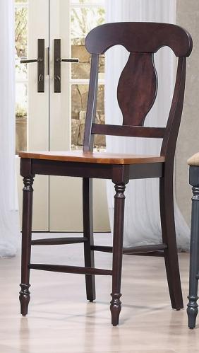 Napoleon Back 24-inch counter Stool - Whiskey/Mocha