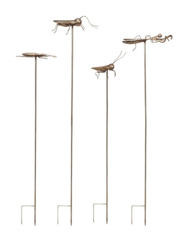 Acerra Metal Insect Garden Stake - Set of 4