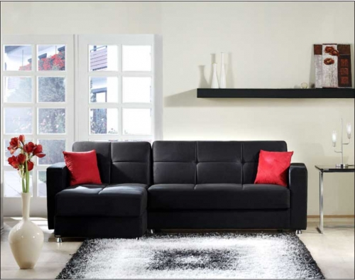 Elegant Sectional - Rainbow Black