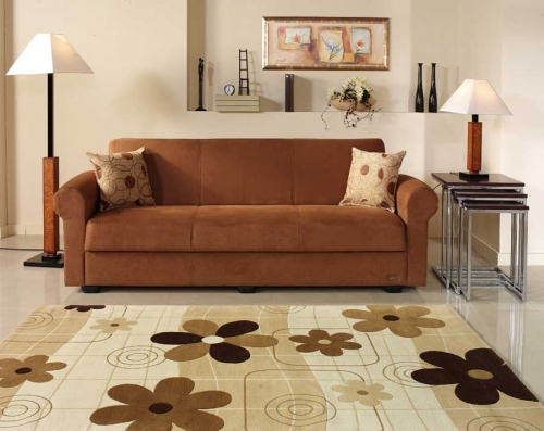 Elita Sofa - Rainbow Brown