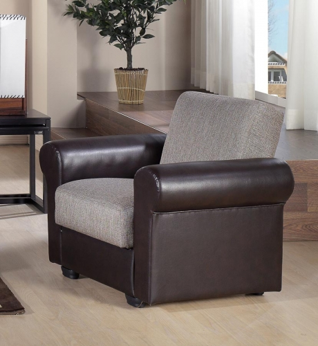 Enea Arm Chair - Redeyef Brown