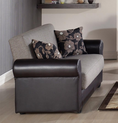 Enea Sleeper Love Seat - Redeyef Brown