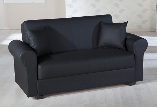 Floris Sleeper Love Seat - Escudo Black