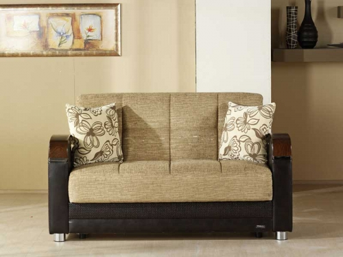 Luna Loveseat - Fulya Brown