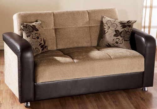 Vision Love Seat - Benja Light Brown