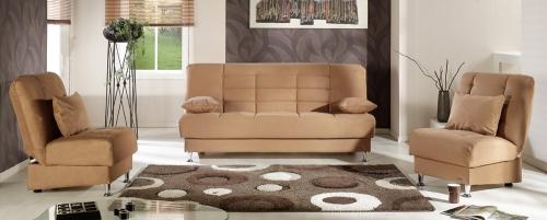 Vegas Living Room Set - Rainbow Brown