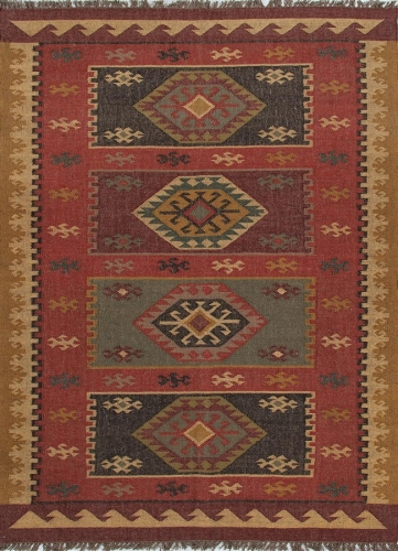 Bedouin Amman BD04 Red Area Rug