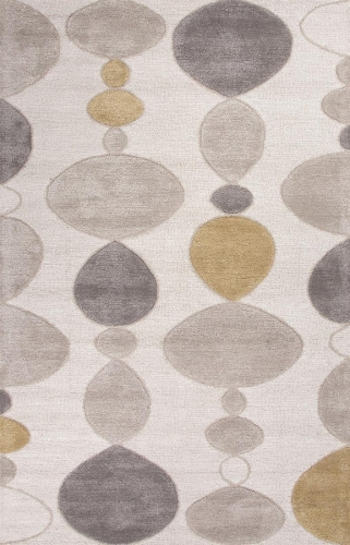 Blue Creekstone BL102 White Area Rug