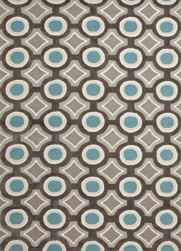 Brio Mosaic BR30 Deep Charcoal Area Rug