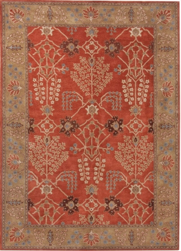 Poeme Chambery PM51 Orange Rust Area Rug