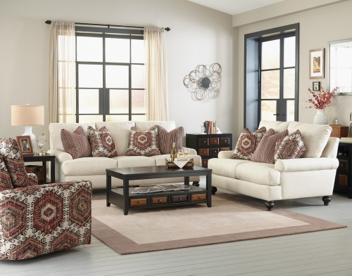 Westchester Sofa Set - Chilipepper