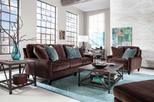Mulholland Sofa Set - Chocolate