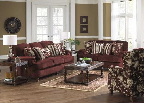 Belmont Sofa Set - Claret