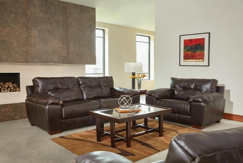 Hudson Sofa Set - Chocolate