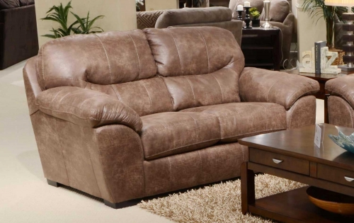 Grant Bonded Leather Loveseat - Silt