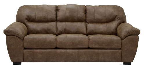 Grant Bonded Leather Queen Sleeper Sofa - Silt