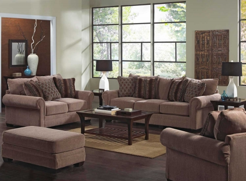 Anniston Sofa Set - Saddle
