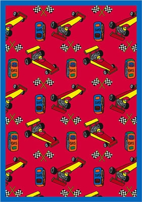 Pit Stop Rug - Red