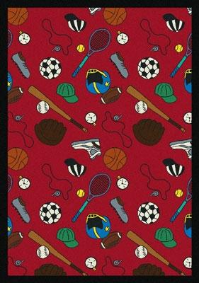 Joy Carpet Multi-Sport Rug - Red