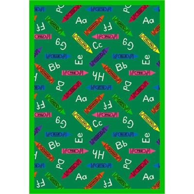 Crayons Rug - Green