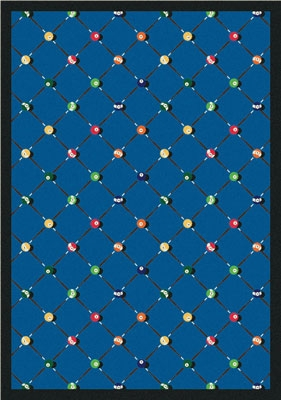 Billiards Rug - Blue