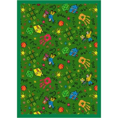 Scribbles Rug - Green